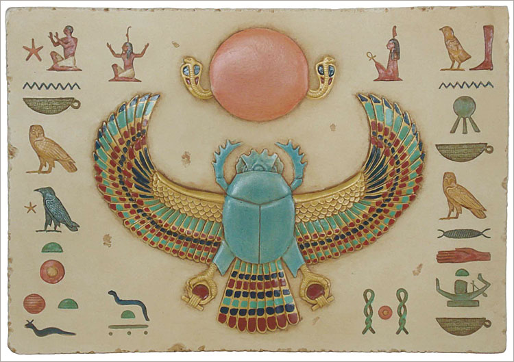 Search the Ancient Treasures Web siteEgyptian Symbols Scarab